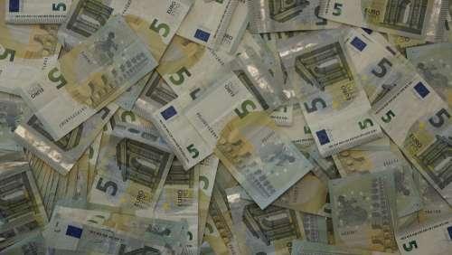 Money Euro Bank Cash Currency Five Bill
