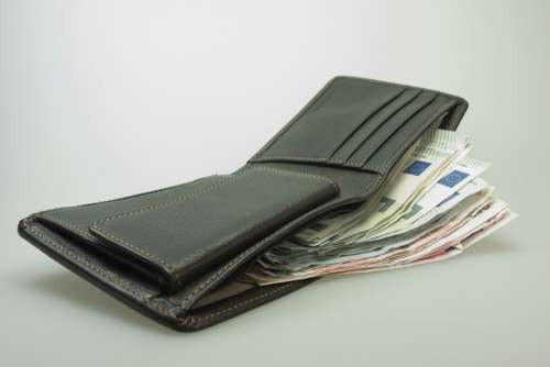 Money Purse Bank Note Euro Leather Wallet
