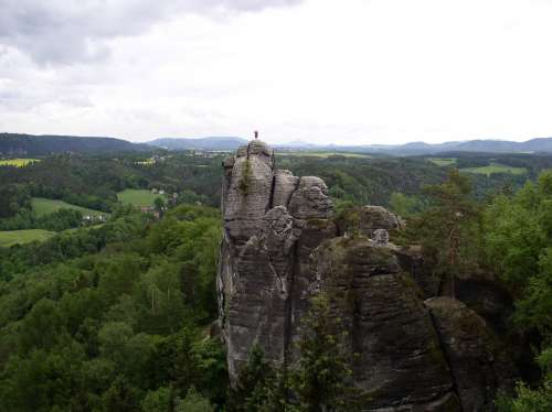 Monk Rock Monk Character Elbe Sandstone Mountains