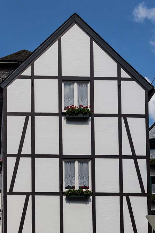 Monschau Germany Half-Timbered House Living Space