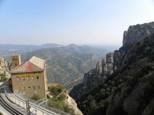 Monserrat Station Mountains Europe Architecture