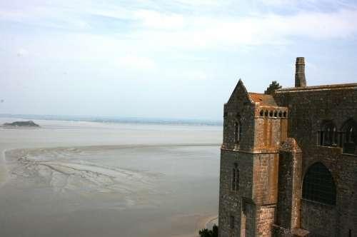 Mont Saint-Michel Abbey Normandy France Middle Ages