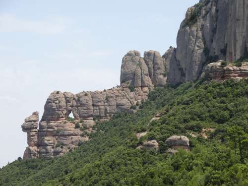 Montserrat Mountain Rock Escalation Nature
