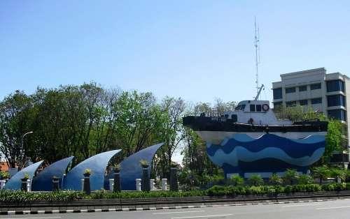 Monument Kapal Tanjung Perak Surabaya Jawa Timur