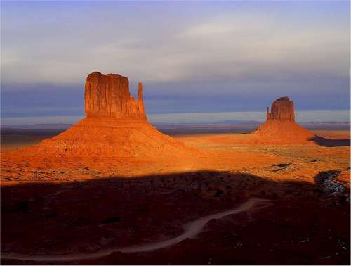 Monument Valley Rock Formations Nature Geological