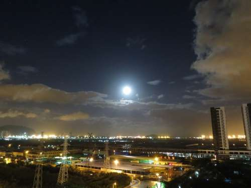 Moon Cloud The Night Sky City