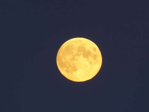Moon Yellow Blue Clear Cold Longing Silent