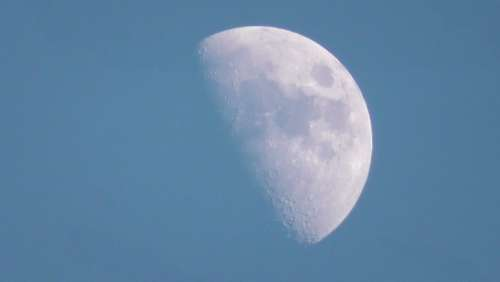 Moon Moon By Day Lunar Earth'S Natural Satellite
