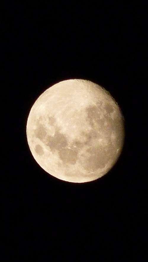 Moon Sky Night Moonlight Nocturne Nature