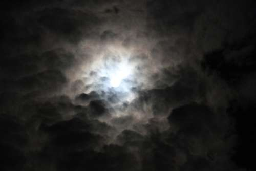 Moon Moonlight Sky Night Black Nature Landscape