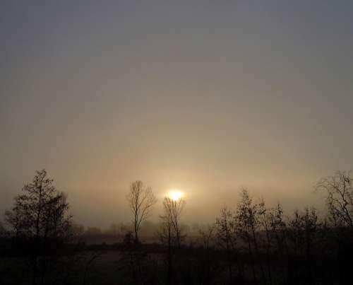 Morning Haze Backlighting Sunrise