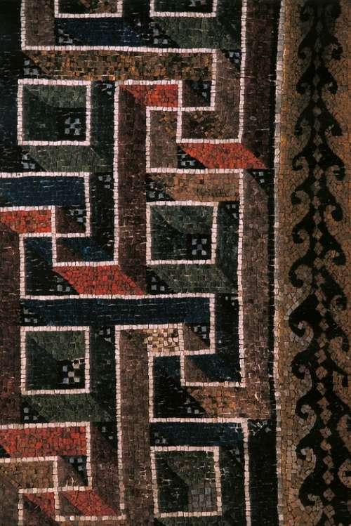 Mosaic Geometric Three Dimensional Colorful Meander