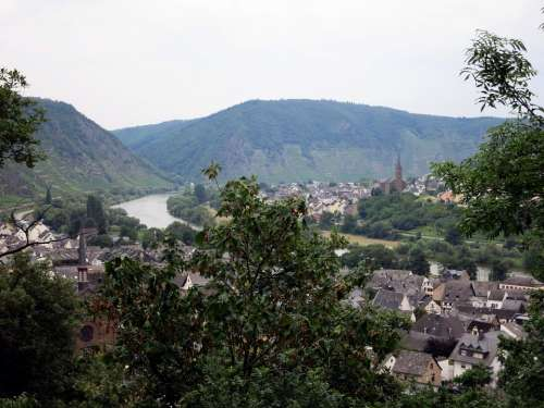 Mosel Outlook Landscape Sachsen Germany Imposing