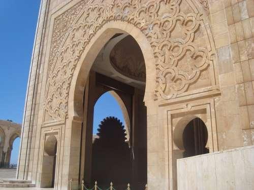 Mosque Casablanca Morocco Africa Hassan Ii
