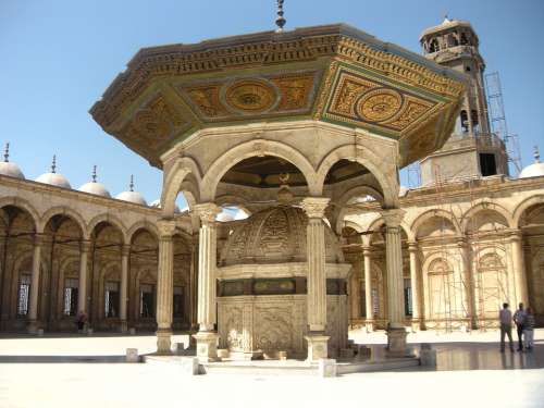 Mosque Inside Courtyard Grand Mosque