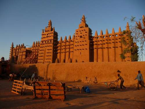 Mosque Mali Mud