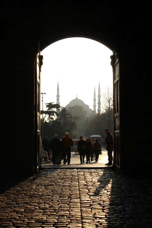 Mosque Istanbul Door Turkey Shadow Light