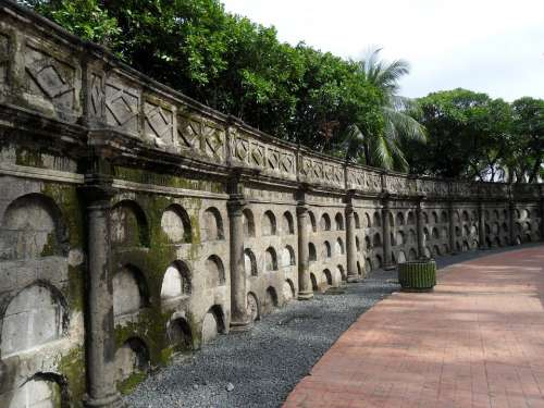 Moss Covered Wall Paco Park Cemetery
