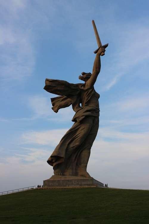 Mother Motherland Stalingrad Metro Station