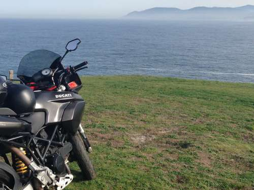 Moto Landscape Field Sea Outdoors Road Motorcycle