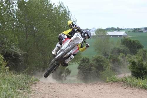 Moto Cross Motorbike Sports Jump Power Outdoor