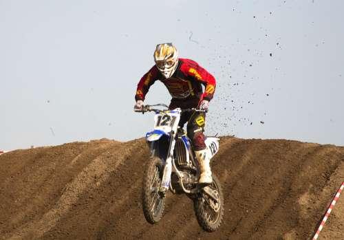 Motocross Motorcycle Sand Jump Motorsport