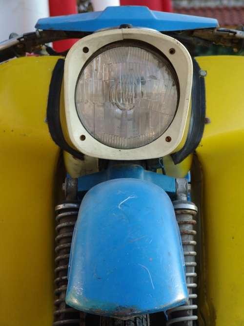 Motorcycle Moped Spotlight Front Mask Light