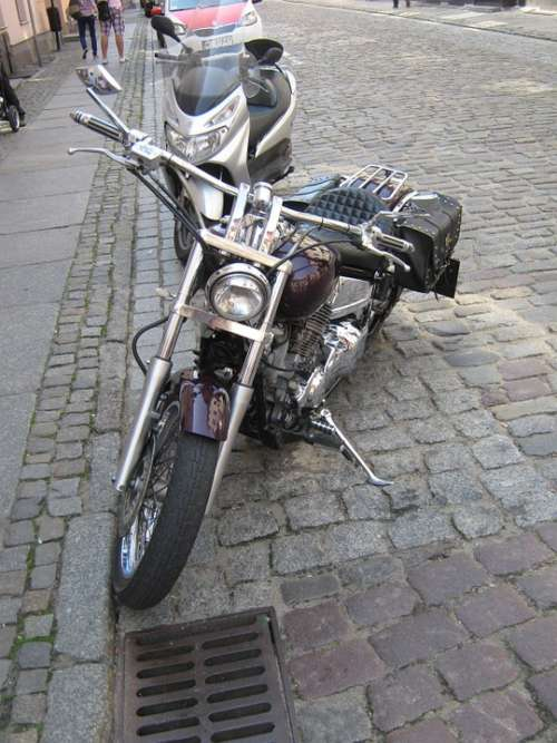 Motorcycle The Vehicle Transport Road