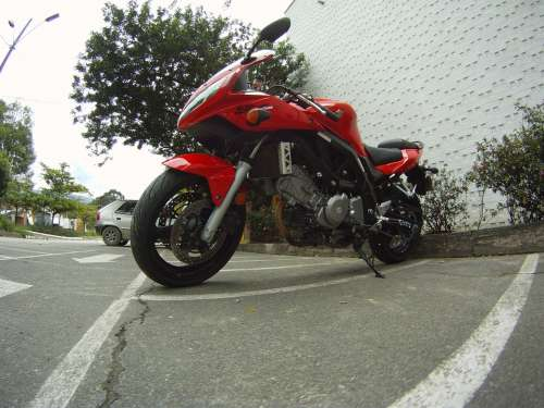 Motorcycle Suzuki Motorbike Sv 650 Red Bike