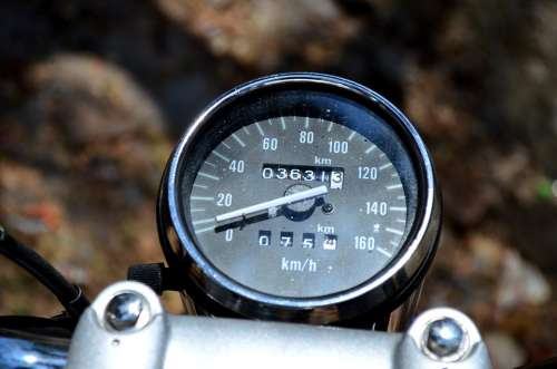 Motorcycle Speedometer Speed Vehicle Transportation