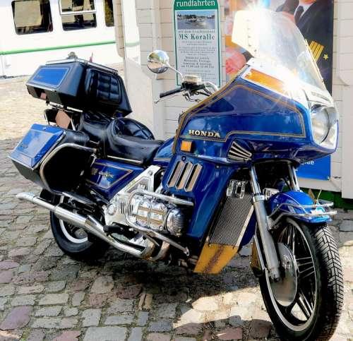 Motorcycle Honda Japanese Blue Noble Large