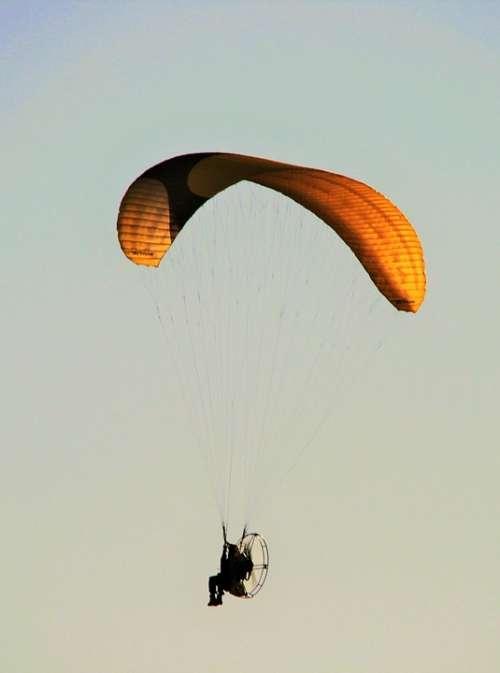 Motorized Parafoil Parachute Canopy Motor Airborne