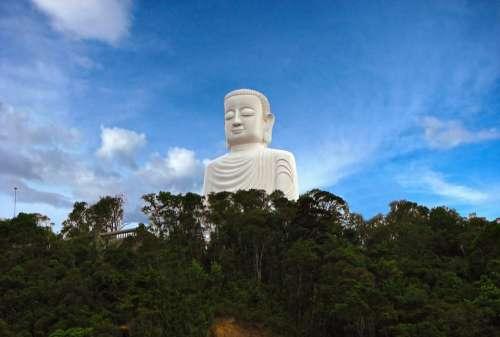 Mountain Vietnam Buddha Statue Peace Meditation