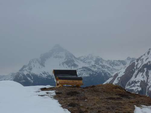 Mountain Kriegerhorn Lech Am Arlberg Snow Sunrise
