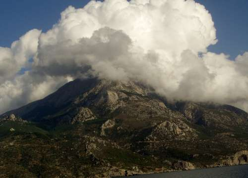 Mountain Greece Clouds