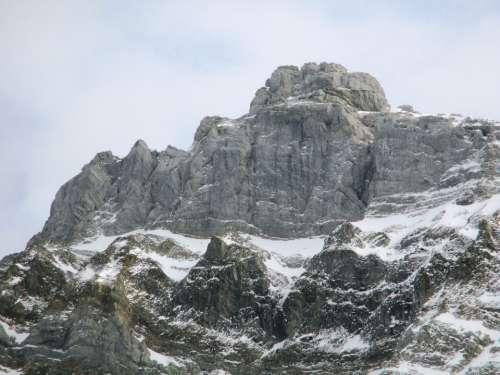 Mountain Switzerland Snow Alpstein Sky Alpine