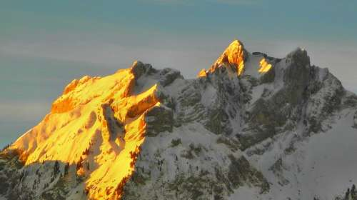 Mountain Pilatus Sunrise Morning Lucerne