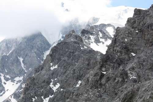 Mountain Hut Fog Julius Payer Hut Payer Hut Ortler