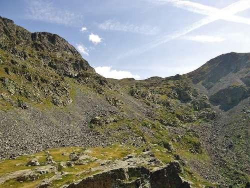 Mountain Summit Large Van France Alps Nature