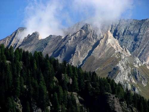 Mountain Mountains Clouds Smoke Boiler Steam