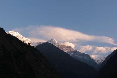 Mountain Himalayan Mountains Pokhara Trekking Cloud