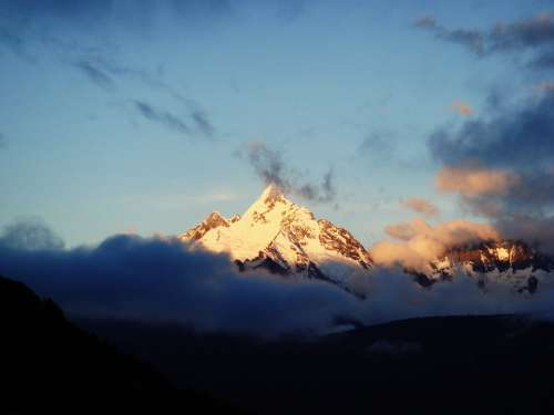 Mountain Sacred Meilin Mountain Sunrise Landscape