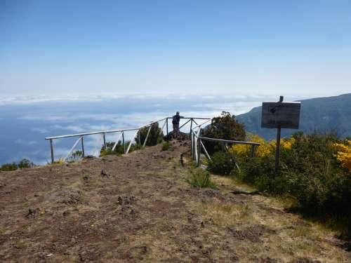 Mountain View Hiking Vision Sky Idyllic