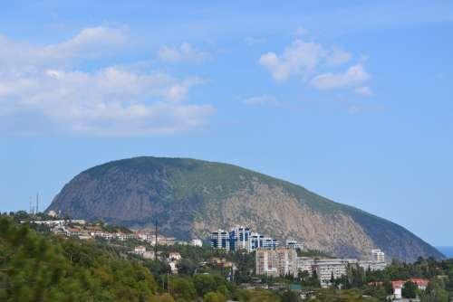 Mountain Landscape Sky Cloud Outdoor Yalta