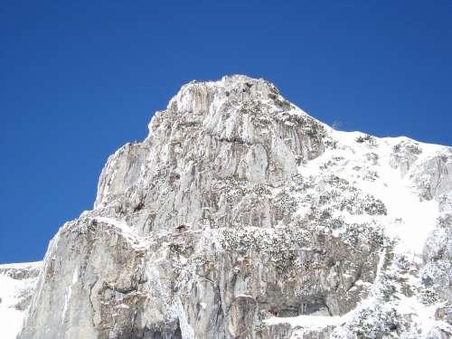 Mountain Snow Summit Rock