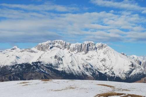 Mountain Presolana Landscape Winter Snow