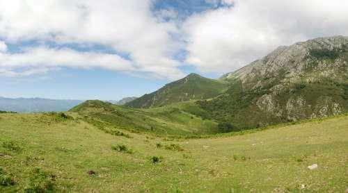 Mountain Asturias Landscape Nature Field