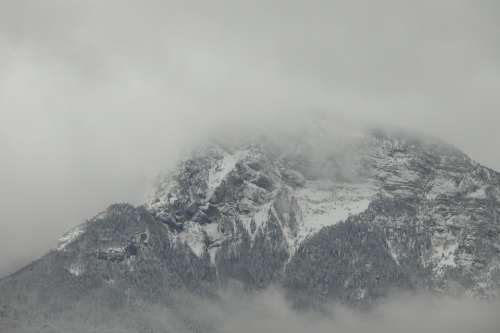 Mountain Cold Snow Winter Mist Altitude Alps