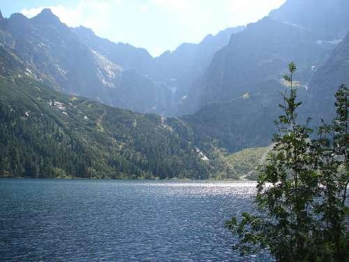 Mountain Mountains Top Nature Tatra Poland Lake
