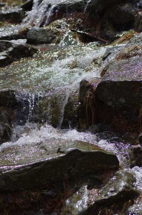 Mountains Bach Nature Landscape Water